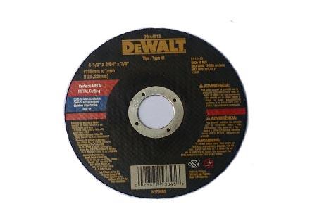 DISCO CORTE INOX 4 1/2 X 1/8 X 7/8  – DEWALT